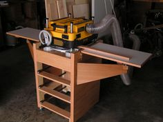 Planer Infeed Outfeed Table Woodworking Shop Pinterest
