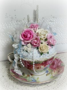 Pin cushion tea cup http://someplaceinthyme.com