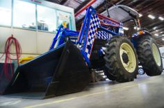The Stock and Rural Crime Investigation Squad has partnered with Neighbourhood Watch and Central Region to produce an eye catching high visibility tractor to focus attention on rural crime prevention at 'Beef in Rockhampton next week. Police Vehicles, Police Cars, Neighborhood Watch, Ants, Investigations, Tractors, Squad, Crime, The Neighbourhood