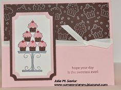 So Many Stamps Cupcake Birthday Card Stampin' Up!