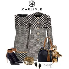 A fashion look from January 2014 featuring Per Se, Enzo Angiolini shoes and MICHAEL Michael Kors tote bags. Browse and shop related looks. Office Fashion, Work Fashion, Fashion Looks, Classy Outfits, Stylish Outfits, Modelos Fashion, Vestidos Plus Size, Professional Attire, Look Chic