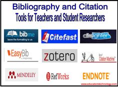 10 of The Best Bibliography and Citation Tools for Teachers and Student Researchers ~ Educational Technology and Mobile Learning