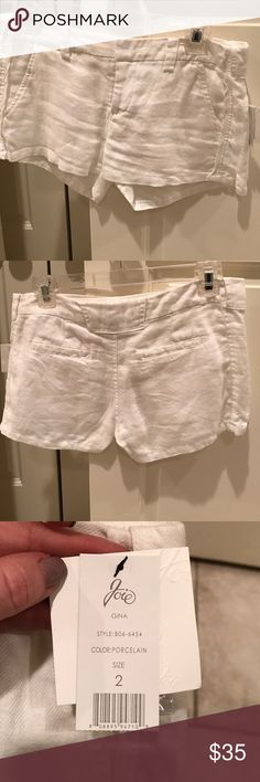 Joie white linen shorts size 2 Nice white linen shorts! These have been hanging in my closet. Joie Shorts