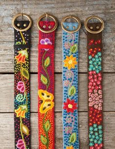 Stitch Fix!!  Would love an embroidered belt like these to go with jeans!