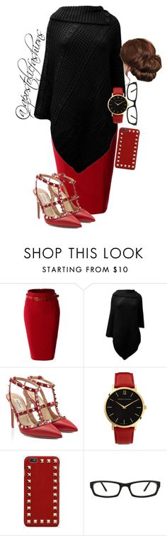 """Apostolic Fashions #921"" by apostolicfashions on Polyvore featuring LE3NO, Valentino and Larsson & Jennings"