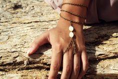 Slave Bracelet Hand Bracelet Piece Hipster Bronze by FunnyPeopleCo, $13.00