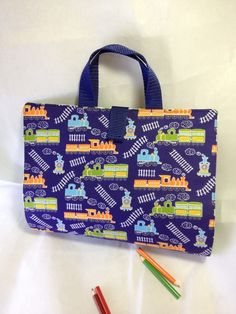 Train Engine Activity Carry Busy Bag with 5 A5 ziplock plastic pouches £8.49