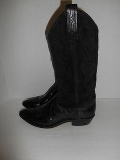 vintage cowboy boots DAN POST western   by ATELIERVINTAGESHOP, $40.00