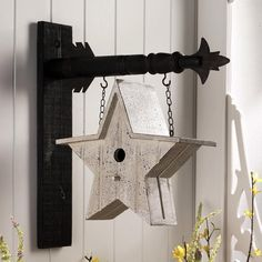 White Star Birdhouse Hanging Decorative Sign , KKI-6627   Lang