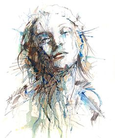 Portraits Drawn with Tea, Vodka, Whiskey and Ink by Carne Griffiths