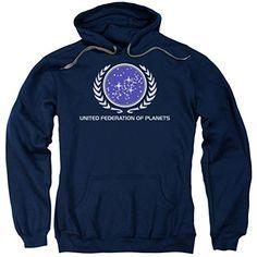 Star Trek United Federation Logo Hoodie Navy 2XL @ niftywarehouse.com #NiftyWarehouse #StarTrek #Trekkie #Geek #Nerd #Products