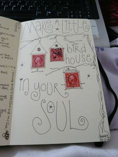More from Sue Longley ~ lazy sunday morning with my moleskine :)