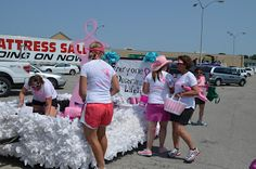 "Breast Friends for 3 Days: We ""busted"" through that parade!!!"