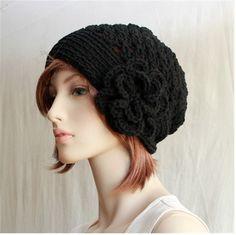 Crochet Women's Hat  With Flower / Womens Teens by endlesscreation
