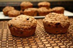 Oatmeal Pb chocolate chip muffins