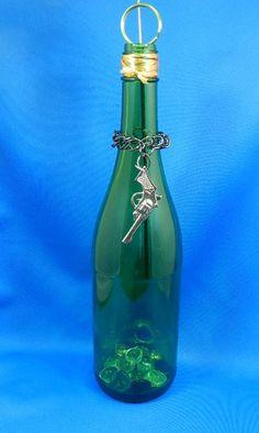 Recycled Wine Bottle Incense Burner - Pistol