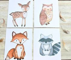 Woodland Nursery Decor Woodland Creatures Woodland Nursery Print - http://babyfur.net/woodland-nursery-decor-woodland-creatures-woodland-nursery-print/