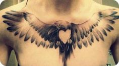 Beautiful raven tattoo.... Love this idea! Wonder if I could get this same concept but as a Phoenix for Phoenix. ??