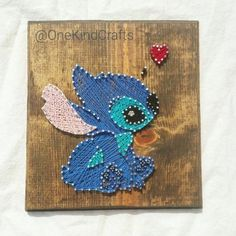 Disney Inspired Stitch von Lilo und Stitch the Movie Handmade Thread und Nail A . - Disney Inspired Stitch von Lilo und Stitch the Movie Handmade Thread und Nail Art Wall De… - Disney String Art, Nail Art Disney, String Art Diy, Disney Art Diy, Disney Wall Decor, String Crafts, Disney Disney, Lilo Ve Stitch, Stitch Disney