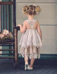 Your little princess is sure to shine wearing our newly arrived Vintage Film Dress which is most definitely suitable for that boho vintage inspired wedding, par