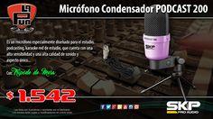 La Púa San Miguel: Micrófono Condensador SKP PODCAST 200 con Tripode ...