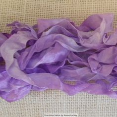 Hand Dyed Seam Binding Ribbon Lavender by StarshineSalon on Etsy, $3.00