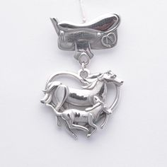 Sterling Silver Horse Brooch and Saddle Pin by DonnaPizarroDesigns