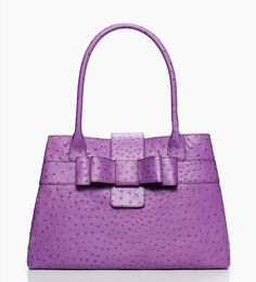 6071e2e8ee30 Charm City Ostrich Maryanne Shoulder Leather Bag by kate spade new york on