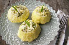orzo stuffed patty pan squash