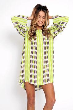 Acacia Tortolla Dress in silk in arrow