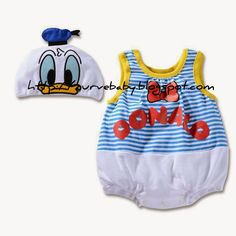 Cute Cartoon Character Romper with Cap Set   Item Code: Spiderman - BR0043S Tigger - BR0044S Mickey Mouse - BR0045S Minnie Mouse - BR0046S Winnie The Pooh - BR0047S Donald Duck - BR0048S Daisy Duck - BR0049S  Item Size: 80, 90, 95 Age: 6-12 months, 12-18 months, 18-24 months  Price: $11