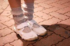 nike air rifts, anrealage socks