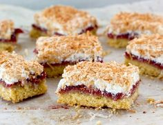 Louise Cake, with its shortcake crust slathered with raspberry jam and crowned with a delicately crisp coconut meringue,has been part of the New Zealand landscape for a very long time. Its origins...