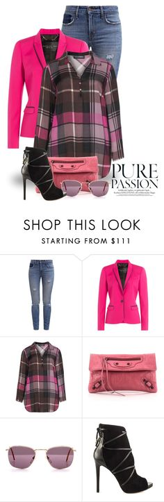"""""""Black, Blue & Pink 2489"""" by boxthoughts ❤ liked on Polyvore featuring Levi's, Barbara Bui, Doris Streich, Balenciaga, Fendi and GUESS"""