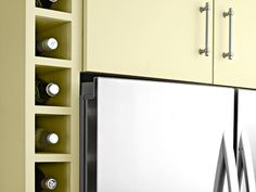 Make your refrigerator feel built-in with a vertical wine rack