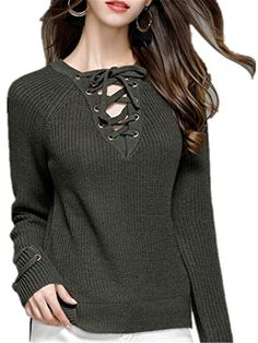 Henraly Womens Novelties V Neck Pullover Sexy Casual Winter Sweaters Color threeM *** You can get additional details at the image link. (This is an affiliate link)