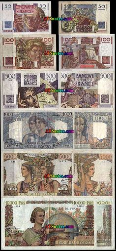 France banknotes - France paper money catalog and French currency history