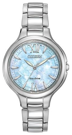 Citizen Silhouette women's quartz Watch with mother of pearl Dial analogue Display and stainless steel Bracelet