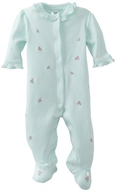 Amazon.com: Little Me Baby-Girls Newborn Rosebud Footie: Infant And Toddler Bodysuit Footies: Clothing