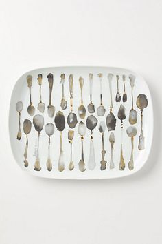 Sumi Spoons Oblong Platter from Anthropologie