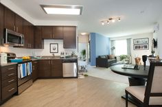 NC2 Studio provided Interior Design and Furnishings for Model Units. Kitchen and Living Room