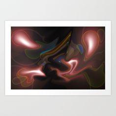 Digital abstract art Art Print by David Pyatt - $17.68