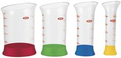 Gadgets: OXO Mini-Beakers. More accurate, less messy. #kitchen #gadgetry #sciencegeek
