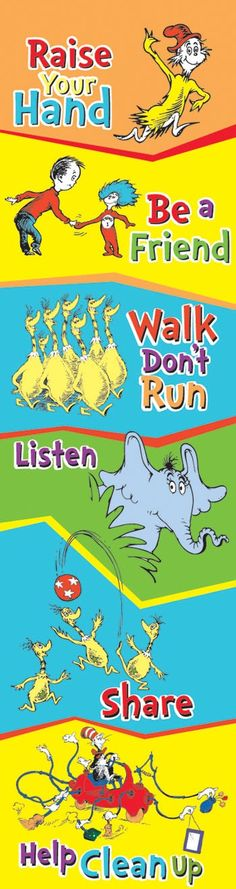 Though not a keyboard or a mouse, the Dr. Suess Classroom Rules Vertical Banner is great for classrooms (and offices!).