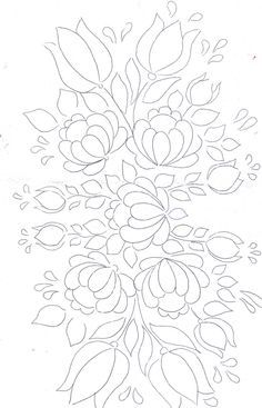 Hungarian Embroidery Patterns Bauernmalerei flower pattern by jacqueline Mexican Embroidery, Hungarian Embroidery, Learn Embroidery, Embroidery Fabric, Floral Embroidery, Embroidery Stitches, Embroidery Designs, Painting Patterns, Fabric Painting