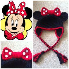 Crochet Minnie Mouse Beanie/Hat