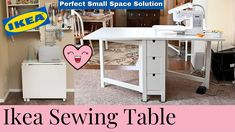 Norden Gateleg Table, Small Space Solutions, Sewing Table, Craft Organization, Office Desk, Sewing Crafts, Small Spaces, Craft Projects, Crafty