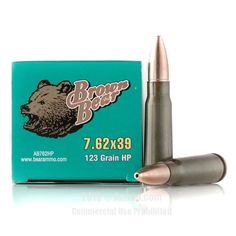 Brown Bear 7.62x39 Ammo - 500 Rounds of 123 Grain HP Ammunition #762x39 #762x39Ammo #BrownBear #BrownBearAmmo #BrownBear762x39 #HPAmmo