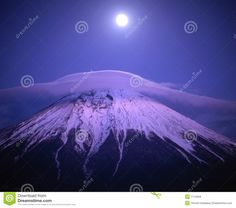 Photo about Full moon over Mount Fuji. Image of landscape, japanese, tranquil - 1714569 Isaiah 52 7, Landscaping Images, Mount Fuji, Volcanoes, How Beautiful, Scenery, Mountain, Earth, Japanese