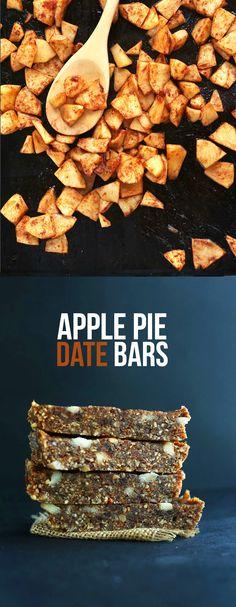 Copycat Apple Pie Larabars - 8 ingredients, naturally sweet and SO delicious! #vegan #glutenfree